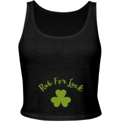 Ladies Slim Fit Crop Top Tank
