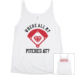 Baseball Bride's Custom Name Tank