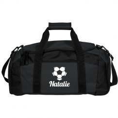 Custom Soccer Love Duffel Bag With Custom Name