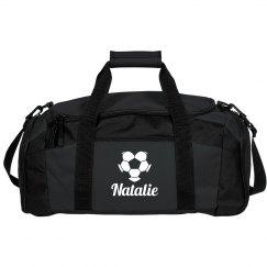 Custom Soccer Love Duffel Bag With Custom Name