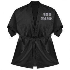 Satin Kimono Short Robe