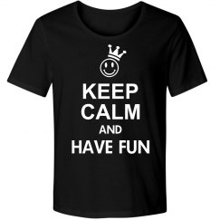 KEEP CALM Smiley Crown White + your text