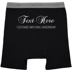 Customize Matching Couple Underwear