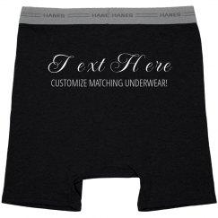 Customize Matching Couple Underwear
