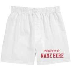 Property Of Custom Couple Boxers