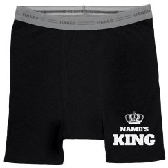 Custom Name's King Matching Boxers