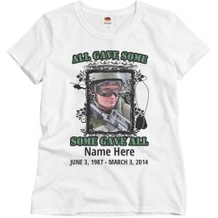 Custom Text Army Memorial Tee