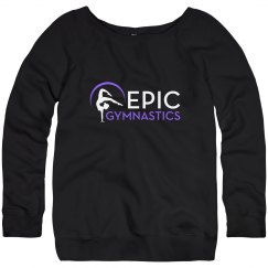 Sweatshirt - black with purple