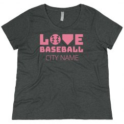 Trendy Custom City Love Baseball
