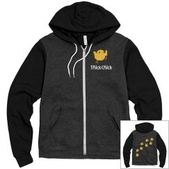 Thick Chick Full Zip Up Logo Jacket