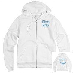 OD Wyatt White Logo Zip Up Jacket