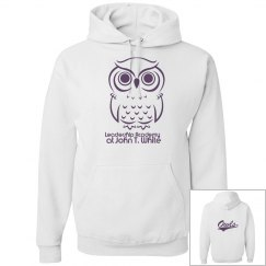 ADULT WHITE W/PURPLE LOGO PULLOVER Sweatshirt