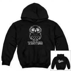 STUDENT MASCOT Black W/WHITE PULLOVER Sweatshirt