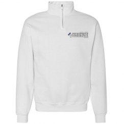 White half zip with logo