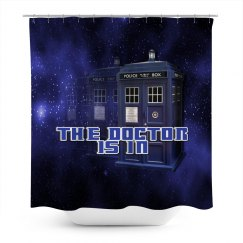 The Doctor Police Box Shower Curtain