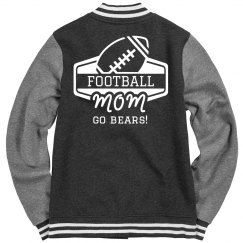 Custom Football Mom Letterman Jacker