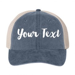Custom Vintage Denim Hat