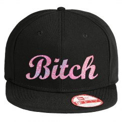 Bitch - Pink Glitter Hat