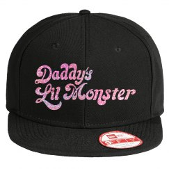 Daddy's Lil Monster - Pink Glitter Hat