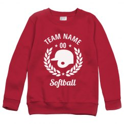 Custom Youth Softball Team Sweatshirts