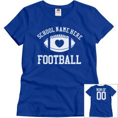 Inexpensive Football Mom Shirts With Custom School Name
