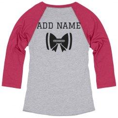 Custom Name Football Cheerleader