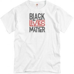 Pink tee w/black & red graphic