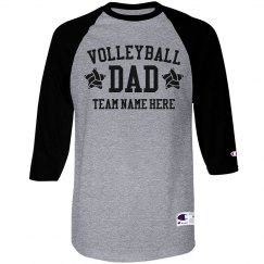 Custom Volleyball Dad Raglan