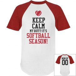 Custom Anti Keep Calm Softball Mom Short Sleeve Shirt