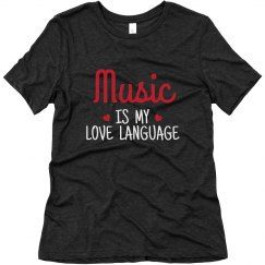 Music Is My Love Language Tee