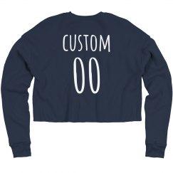 Custom Name & Number Sports Crop
