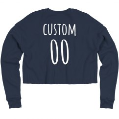 Custom Name & Number Sports Crop