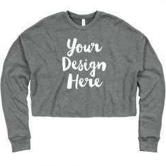 Custom Crop Sweatshirt Workout Top