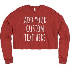 Custom Text Workout Crop Tops