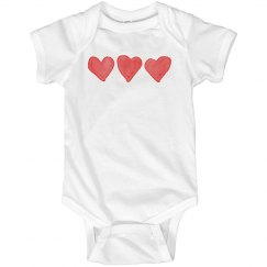 Watercolor Hearts Onesie