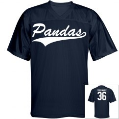 Pandas custom name and number sports jersey