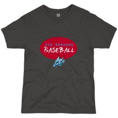 #6 Youth-Reg.Tee-Next Level Brand-Red on Dark Gray