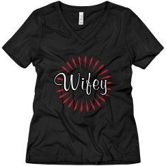 Wifey V-Neck Tee