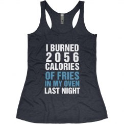 Funny Fitness Burning Fries