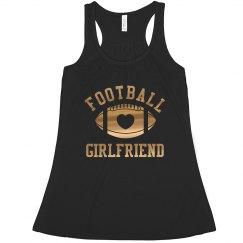 Trending Metallic Gold Football Girlfriend Design