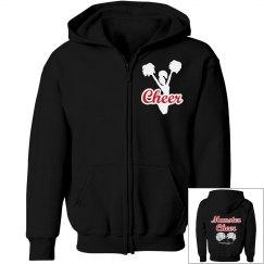 Cheer zip hoodie