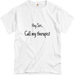 Hey Siri...Call my therapist