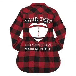 Personalize A Ladies Flannel For Fall