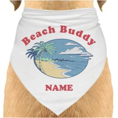 Custom Pet Name Beach Bandana