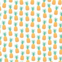 Sporty White Pineapples Print