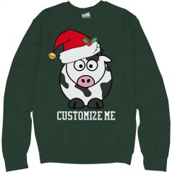 Cute Christmas Cow