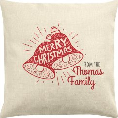Merry Christmas Custom Family Pillow