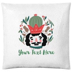 Jolly Nutcracker Custom Pillow