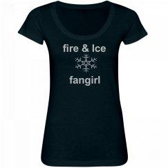 Fire & Ice Fan Girl Rhinestone T-Shirt
