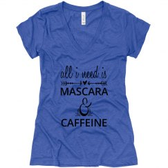 mascara n caffeine vneck
